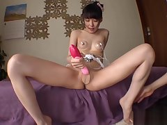 Skinny Idol Asami Tsuchiya Fucked With Vibrator Fingers Nipple Vibrators Lubed Cute Teen