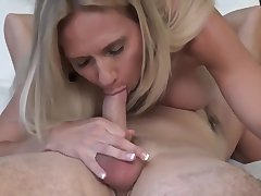 My busty stepmom sucks my big dick while i'm licking her tight pussy