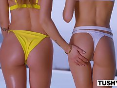 Posterior Two Models Compete Over Who Can Gape Set to rights
