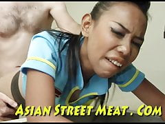 Meat Hook Anal Chained Adjacent to Stainless Asian Bugger