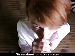 CFNMTeens - Ginger Teen Gets Fucked At Undertaking