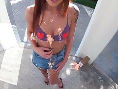 Haymaker nextdoor girl Scarlett Mae gets her pussy fucked and creampied