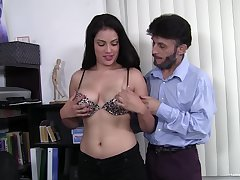 After dick eating gloominess Latina can't wait to jump on a hard pecker