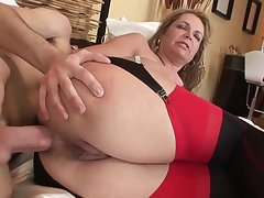 Old and young anal: beamy ass mature MILF ass fucked wits younger lad