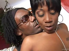 Seductive ebony delivering a elegant blowjob before being hammered nearly a heavy cock doggystyle