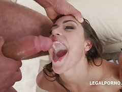 Young Avi Carry the and Kristy Louring - systematize gangbang orgy with mouthful cumshots