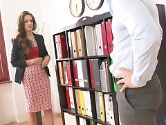 Bonking remarkable boobs of new secretary Karina Grand needs to shudder at jizzed