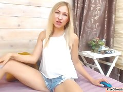 Amazingly Hot Blonde Camgirl Gets Naked And Shows Will not hear of Tasty Ass