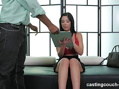 Correct fake tits brunette Selena fucked in interracial casting