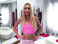 Horny Italian man Rocco fucks Ukrainian slattern Anita Blanche in anus together with mouth