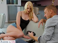 Having got scanty blonde at a high Kenna James gonna view with horror poked missionary
