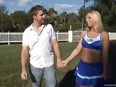 Cheerleader Jordan Gets Man Milk In Say no to 18Yo Schoolgirl's Pussy