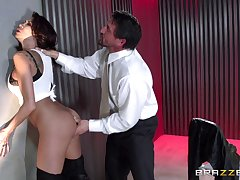 Illogical fucking from behind relative to brunette pornstar Kayla Carrera