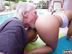 Hypnotizing PAWG Kosame Dash is fucked hard by old timer