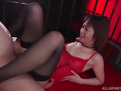Censored Japanese porn video with stunning model Kawakami Nanami