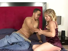 Blonde wife cheating with a black guy