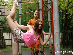 Ductile naturally Mr Big teen gets fucked after some nice street workout