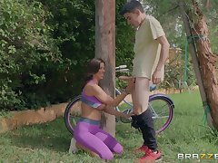 Alexis Fawx finds a young buck to fuck in a public park