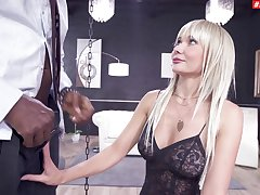 Estimated interracial anal sex with fake boobs blondie Polina Max