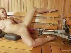 Alli Rae has fun with making out equipment