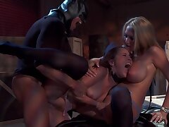Batman Fucks Two Horny Babes - Malisa Moir Fantasy Sex