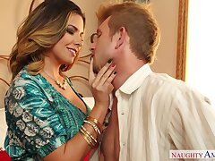 Fabulous curvaceous MILF Danica Dillan works on crave cock with persistence