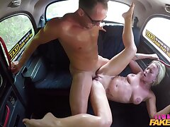 Female Fake Taxi - Arousing Sexually exciting Taxi Backseat Screw 2 -