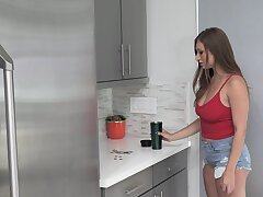 Horny room-mate Skylar Snow wants in all directions be fucked from resting with someone abandon