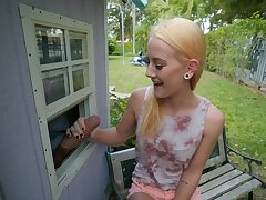 Petite kermis feels amazing with the neighbor's cock in say no to hands