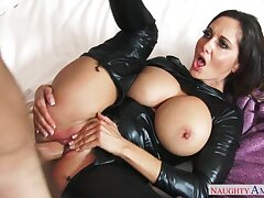 Bad girl Ava Addams fucking in the bed with their way hairy bush